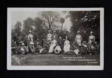 WW1 Postcard RP Soldiers Tottenham Hospital Grandfather War Red Cross Nurse