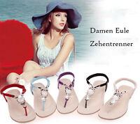Damen Strass Zehentrenner   Flops Sommer Sandalen Strandschuhe Sandaletten