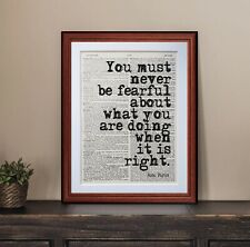 Rosa Parks quote... dictionary page wall art print gift books literary gift