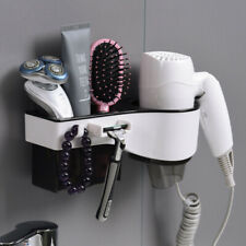 Bathroom Organizer Racks Wall Mount Hair Dryer Holder Hanging Rack Organizer