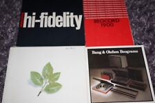 BANG & OLUFSEN 78/79 CATALOGUES BEOSYSTEMS A COLLECTION OF 10 ASSORTED BROCHURES