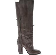 MAISON MARTIN MARGIELA Tall Leather Boots With Leather Stitch Detail -UK 7/EU 40