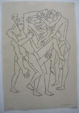 Osip Zadkine (1890-1967) Combat i ORIG. litografía 1965 firmado 20/75