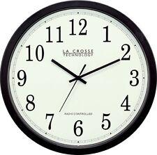 La Crosse Technology WT-3143A-INT 14-Inch Atomic Wall Clock, Black, New