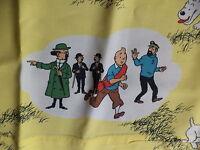 Ancienne Frise de tenture TINTIN années 1950-60 avec les personnages de TINTIN