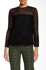 Orla Kiely Grid Cutout Long Sleeve Blouse NWT! $269   SZ S   C021