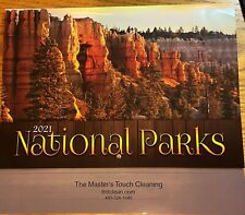 """New listing Wall/Hanging 2021 Calendar Canadian & American National Parks 19 x 11"""" Brand New"""