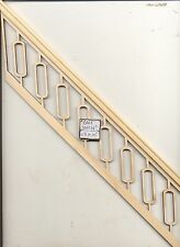"Staircase Hand Railing fits steps # 893 for 9"" Ceiling   1/12 scale Stairs USA"