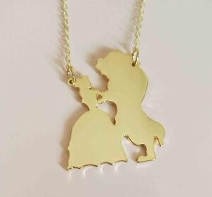 Beauty and the Beast necklace pendant women jewelry women girl gift for her HQ