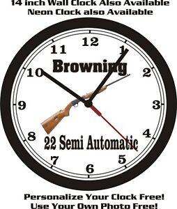 BROWNING 22 SEMI-AUTOMATIC WALL CLOCK-FREE USA SHIP