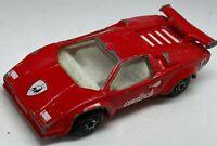 Matchbox Superfast No 11 Red Lamborghini Countach LP 500-S