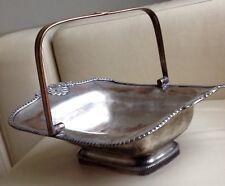 Antique Edwardian Silver Plated Basket Bread Bowl