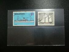 Singapore Stamp 1980 Ship Boat Coaster $1 & Palari 20c Used Stamps ~ 2 pcs