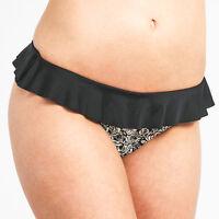 FREYA Manhattan Rio FRILL Bikini Brief BLACK White FLORAL 8,10,12 14,16 NEW