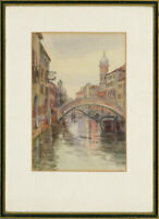 B. Malcomson - Signed & Framed Early 20th Century Watercolour, Venetian Canal