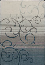 """2x8 Milliken Whispering Bluestone Casual Scrolls Area Rug - Approx 2'1""""x7'8"""""""