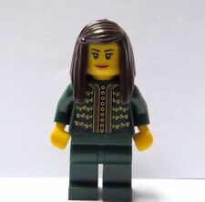 Lego Female Girl Minifigure Figure Green Outfit Brown Hair Royal Queen Princess