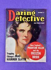 Daring Detective (Nov.,1938): Vintage Pulp Magazine! Mad Hammer Slayer!