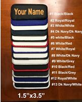 "IRON-ON Custom Embroidered Name Patch, Name Tag,Name Badge Rectangular 1.5""x3.5"""