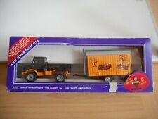 Siku Mercedes Unimog + Builder's Hut in Black/Orange in Box (Siku nr: 2533)