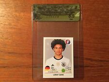 LEROY SANE rookie Update STICKER PANINI FOOTBALL UEFA EURO 2016 BGS 8.5 Germany