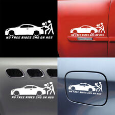 No Free Rides Gas Or Ass Car Window Funny Waterproof Sticker Truck Bumper Decal