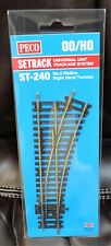 HO Scale - PECO SETRACK ST-240 INSULFROG Code 100 No. 2 Radius R/H Turnout