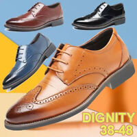 Men Wedding Leather Oxfords Shoes Casual Business Dress Formal Office Work Shoes