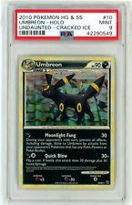 PSA 9 MINT Umbreon 10/90 HGSS Cracked Ice Holo Rare Promo Pokemon Card