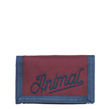 ANIMAL MENS WALLET.NEW CLIFTON TRIFOLD HOOK/LOOP COIN/CARD MONEY PURSE 7W 02 T45
