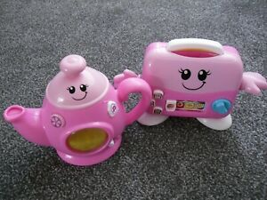 Toy musical toaster and kettle set