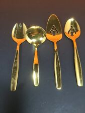 Rogers Cutlery Gold Electroplate Flatware 4piece Serving set In Pouch D