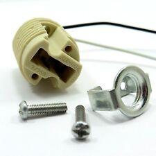 G9 Lamp Holder Ceramic Head 15cm Leads Socket Base LED Bulb + M10 Metal Bracket