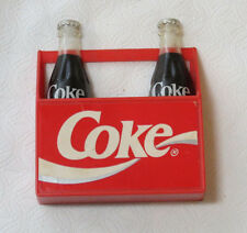 1995 The Coca-Cola Co Collectible Magnet Red Crate with 2 coke bottles pre owned