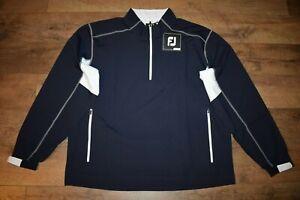 FootJoy Sport Windshirt Golf 1/2 Zip L/S Pullover Size XXL (Navy / White) NWT