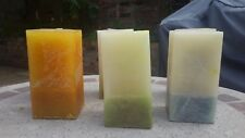 6x rectangular candles, different colours non-scented