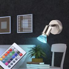 Lujo RGB Led Luz de Pared Comedor Plata Lectura Lámpara,Foco Big Luz