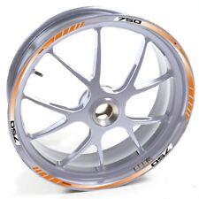 ESES Pegatina llanta Moto Guzzi plata Breva 750 T 750T Naranja adhesivo cintas v