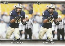 LOT of (2) 2017 Leaf Draft  JAMES CONNER  RC cards  Pittsburgh Steelers  Rookie