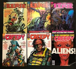 Creepy 63 64 96 Eerie 69 77 86 lot of 6 Warren Magazines Corben Bode Ken Kelly