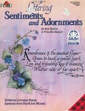 Sentiments Adornments Brush Lettering Brown Hauser Decorative Painting Book