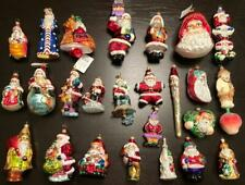 HUGE LOT! 100% RADKO ALL SANTA CLAUS Christmas Tree Ornaments MUST SEE!