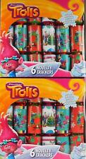 Set Of 12 Trolls Party Table / Christmas Crackers
