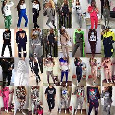 2PCS Set Women's Hoodies Sport Tops Sweatshirt Track Pants Sweat Suits Tracksuit