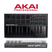 More details for akai mpk mini 3 professional black midi music production keyboard with decksaver
