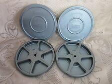 2 Vintage Standard 8 Blue Alanar 300' Movie Film Reel w/ Cases