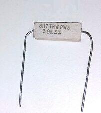 80 pieces of 3 Watt Wire-Wound 3.9K Ohms 5% by TRW resistor