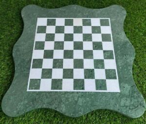 """18"""" Marble Chess Game Table Top Handmade Home decor"""