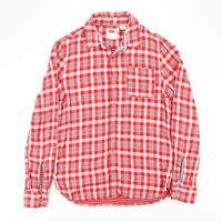 Vintage LEVI'S Red & Blue Check Patterned Flannel Shirt Men's Size Small