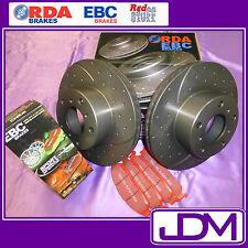 HONDA CITY 1.5 VTi/VTiL (LIFE) 2001 - SLOTTED Front Brake Discs & REDSTUFF Pads